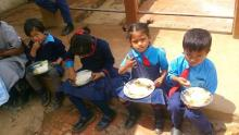 Childrens having Meal